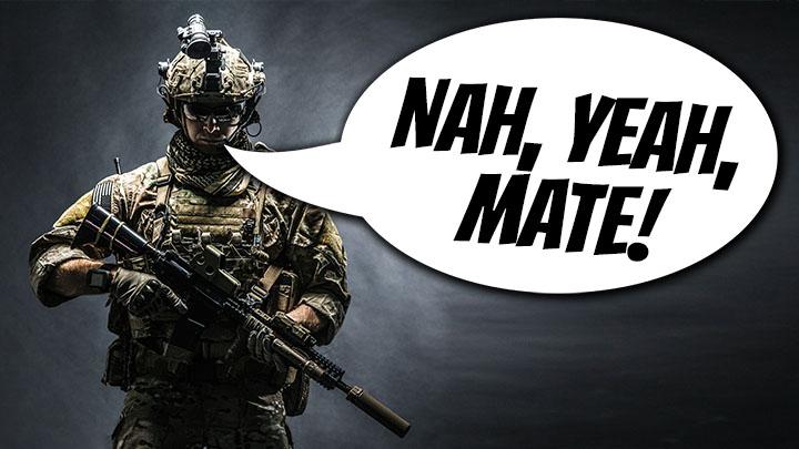 australian troops, australian slang, aussie troops slang, american soldiers, us marines, ordered not to use slang